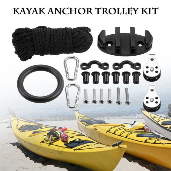 TOMSHOO 21PCS Kayak Canoe Anchor Trolley Kit