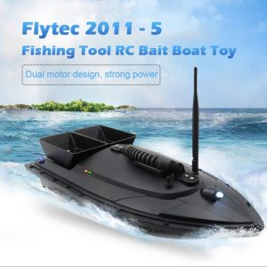 Flytec 2011-5 Fishing Tool Smart RC Bait Boat Toy Digital Automatic Frequency Modulation Remote Radio Control Device Fish Toy